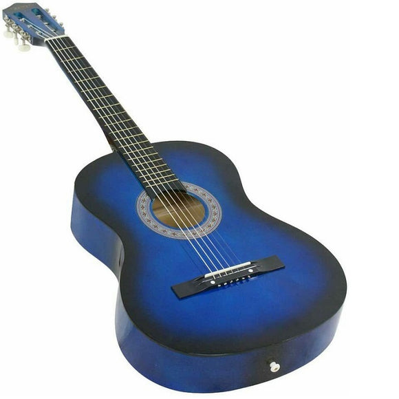 95cm Wooden Acoustic Guitar with 6 Strings (Blue)