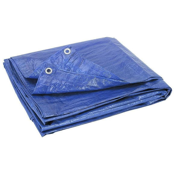 Heavy Duty Waterproof Tarpaulin 5x6m (Blue)