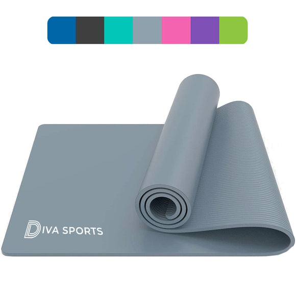 Yoga Mat - 15mm thickness (Grey)