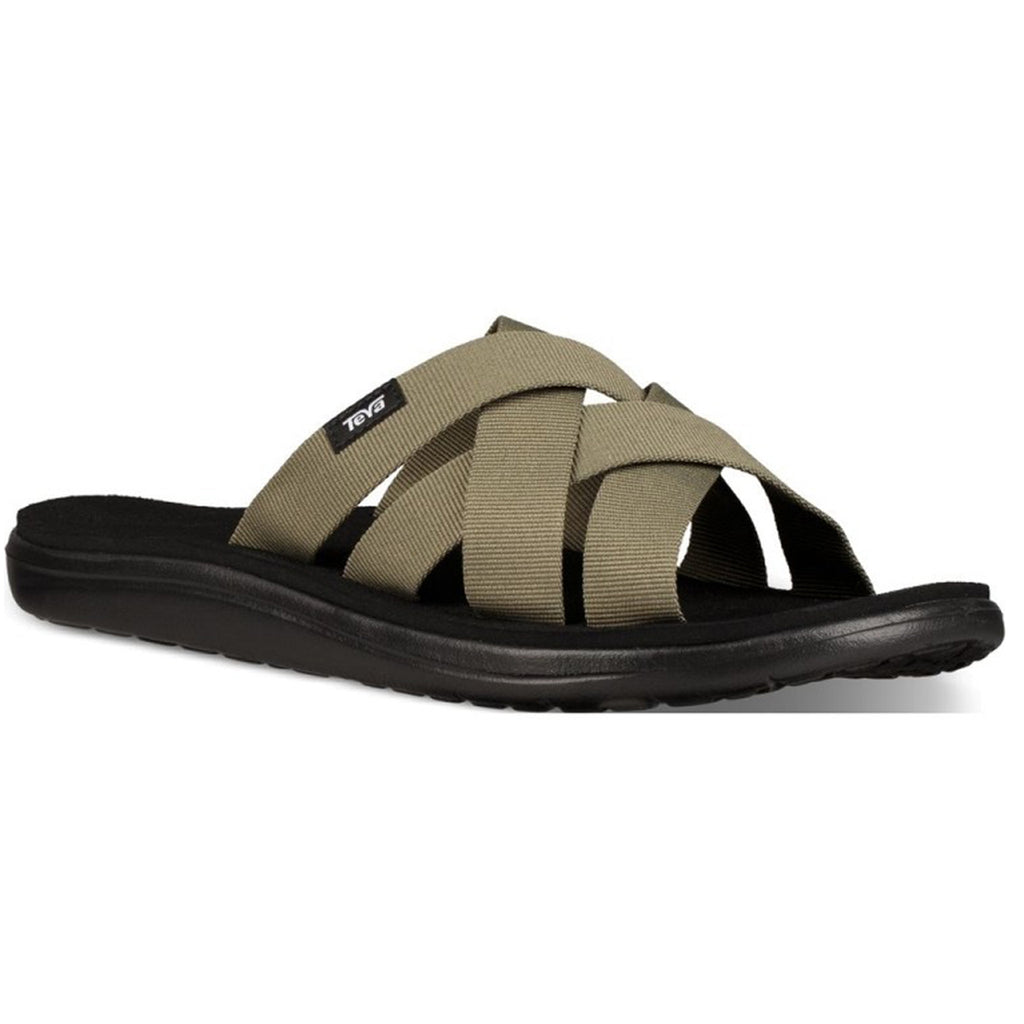 כפכפי גברים TEVA Voya Slide Burnt Olive (4588887441482)