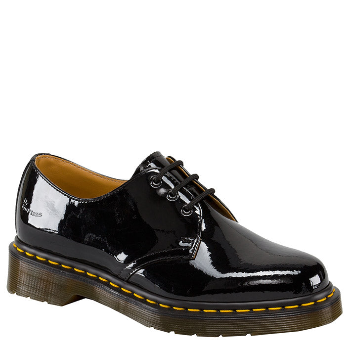 נעלי ד״ר מרטינס Dr. Martens 3 Eye Shoe Patent Lamper Black (4731716468810)
