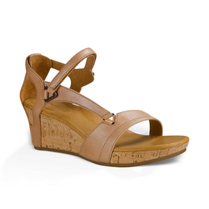 TEVA סנדלי נשים קפרי וודג' רוז גולד Capri Wedge Rose Gold (4570208436298)