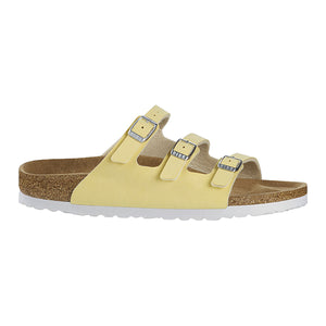 בירקנשטוק כפכפי נשים פלורידה Birkenstock Florida Brushed Vanilla (4803275259978)