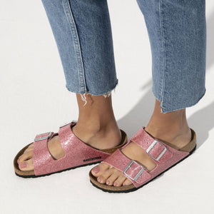 בירקנשטוק כפכפי נשים אריזונה רוז ספרקל Birkenstock Arizona Cosmic Sparkle Old Rose (4537528418378)