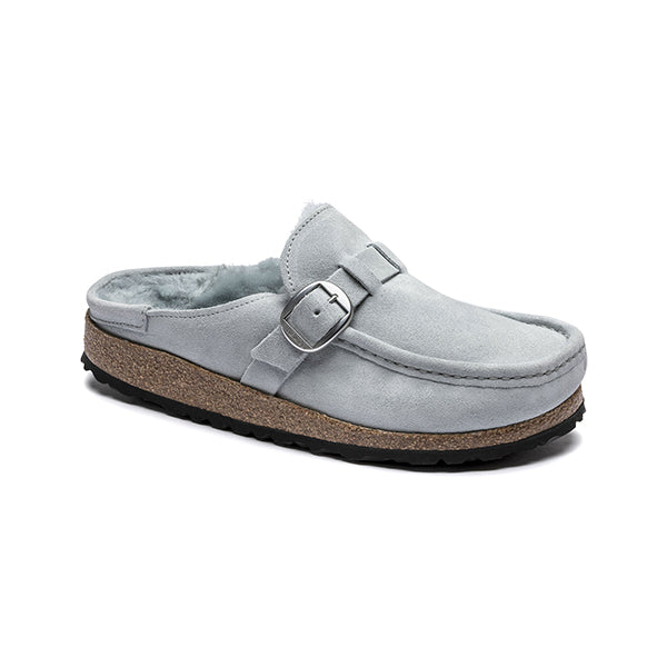 Birkenstock Buckley Shearling Dusty Teal בירקנשטוק כפכפי נשים (4792599576650)