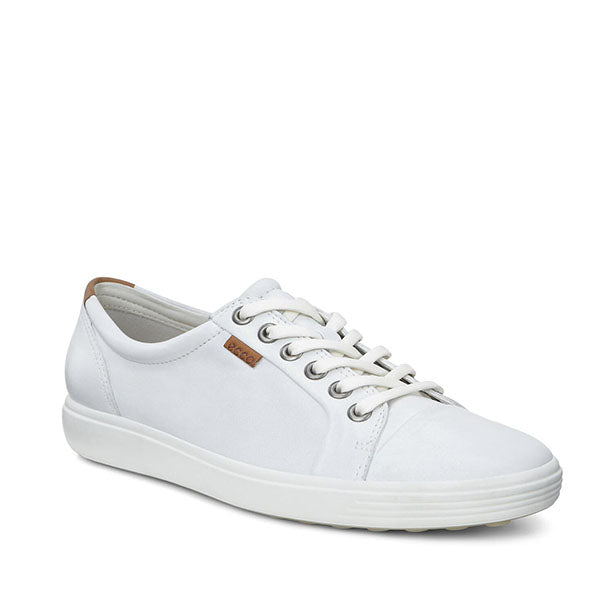 ECCO 430003-01007 Soft VII Ladies White Women - נעלי אקו לנשים (6040314773687)