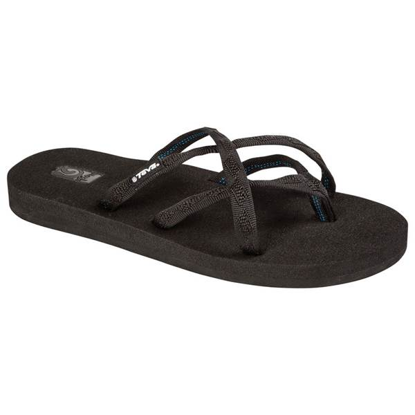 כפכפי נשים Teva Olowahu Mix Black On Black (4603408121930)