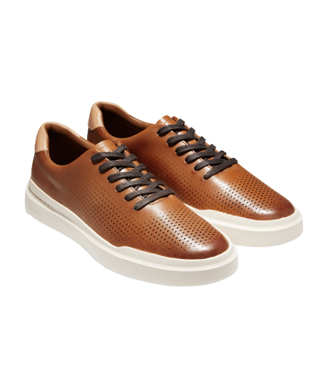 נעלי גברים קול האן Cole Haan Grandpro Rally Laser Cut Sneaker British Tan Ivory (4531560972362)