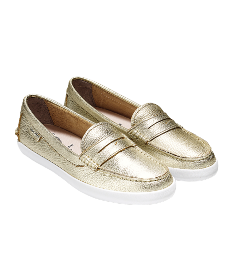 נעלי נשים קול האן  Cole Haan Pinch Weekender Loafer Soft Glod Metalic (4531431800906)