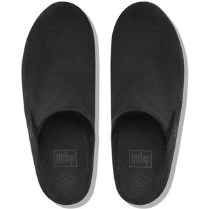 פיט פלוט לוף קלוגס שחור Fit-Flop Loaff Suede Clogs - Original's (4395494178890)
