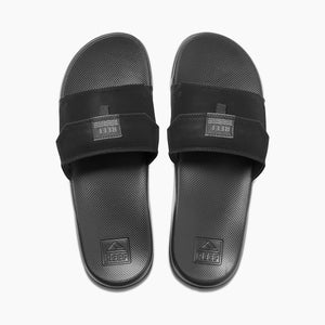 כפכפי גברים ריף REEF STASH SLIDE BLACK (4587972591690)