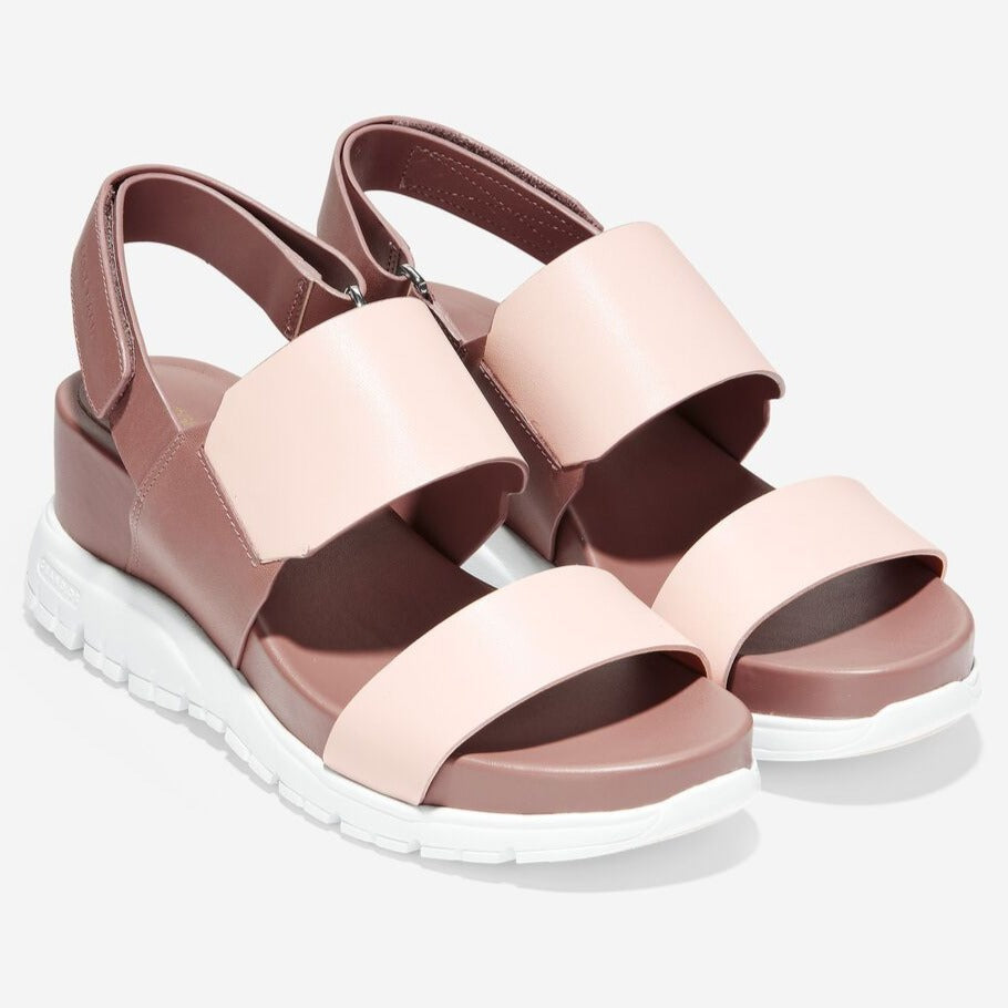 נעלי נשים קול האן Cole Haan Zeroground Wedge Sandal Pink (4579795861578)