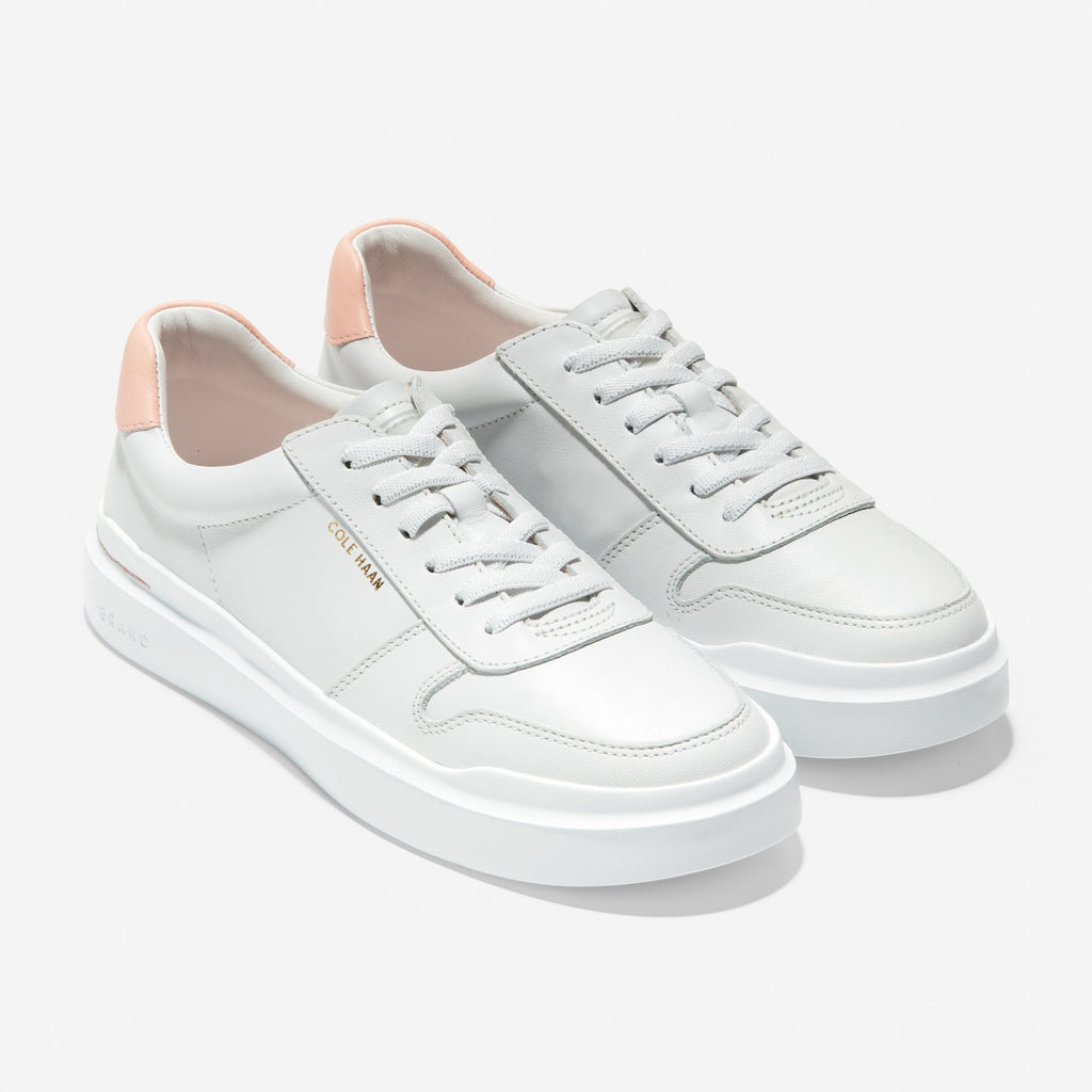 נעלי נשים קול האן Cole Haan Grandpro Rally Court Sneaker Optic White Peach (4620380340298)
