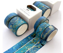 Load image into Gallery viewer, Van Gogh Washi Tape - Set Of 3 - Starry Night Washi Tape, Almond Blossoms Washi Tape, Impressionism Washi Tape, Artist Washi Tape