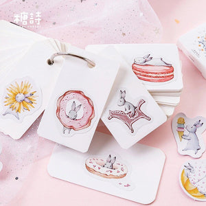 Springtime Bunny Stickers - Box of 45 - Journaling, Planner Stickers, Bujo Stickers, Scrapbooking