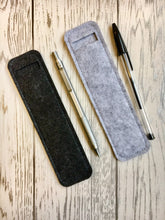 Load image into Gallery viewer, Minimalist Pen Pouch - Pen Holder, Handbag Pen Protector, Grey Pen Holder, Planner Accessories