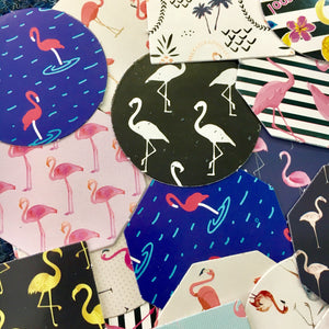 Flamingo Stickers - Box of 45 - The Crafts Vine