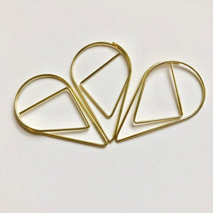 Large Gold Paperclips - Set of 3 - Giant paperclips, gold paperclips, planner clips, planner storage