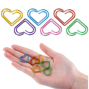 Heart Shaped Paperclips - Pack of 5 - The Crafts Vine
