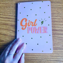 Load image into Gallery viewer, Girl Power A5 Notebook - The Crafts Vine