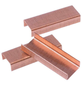 Rose Gold Metal Staples - Pack of 1000 - Stationery Supplies, Rose Gold Stationery, 24/6 Staples, Office Accessories, Rose Gold Refills