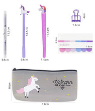 Load image into Gallery viewer, Unicorn Stationery Gift Set - Unicorn Stationery, Unicorn Fineliner Pens, Unicorn Pencil Case, Unicorn Gift Set, Unicorn Planner Set