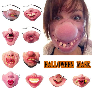 Funny Adult Party Mask Latex Clown Cosplay Half Face Horrible Scary Masks Masquerade Halloween Party