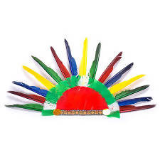 Colorful Feather Hats Headband Indian Style Headwear Cap Headdress For Halloween Party Decor
