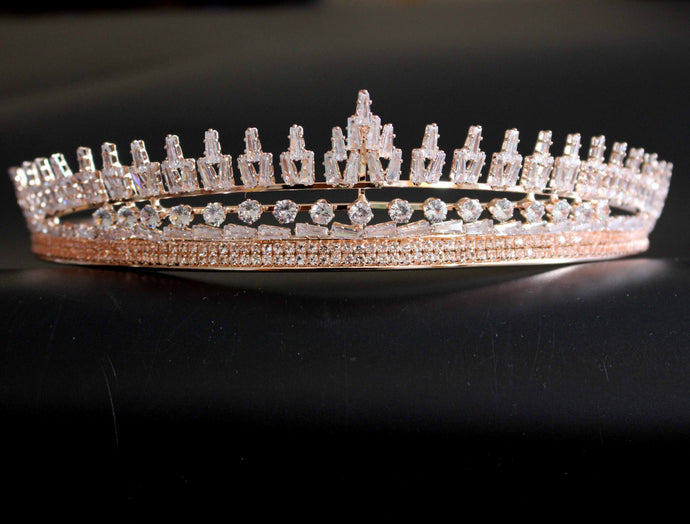 Artificial Crystal Wedding Bridal Tiara Crown For Girl/Women