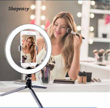 Load image into Gallery viewer, Desktop 10 Inch LED Ring Light & Stand for Live Streaming, TikTok