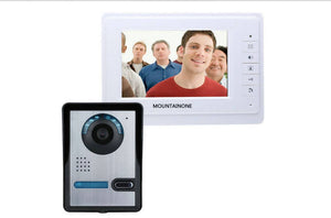 7'' wired color video door phone Intercom system video doorbell kit IR 1 outdoor camera +1 monitor