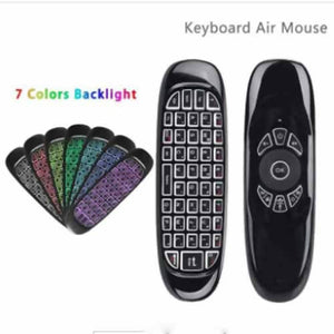 Air Mouse With Mini Wireless Keyboard and 7 Colours Backlit RGB