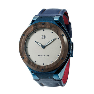Swiss made luxury quartz watch NOVE Craftsman Blue