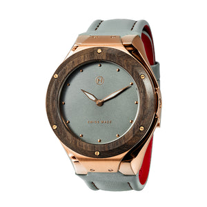 Swiss made luxury quartz watch NOVE Craftsman Rose Gold