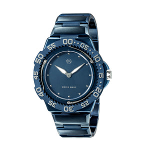The world's slimmest diver watch NOVE Trident Blue