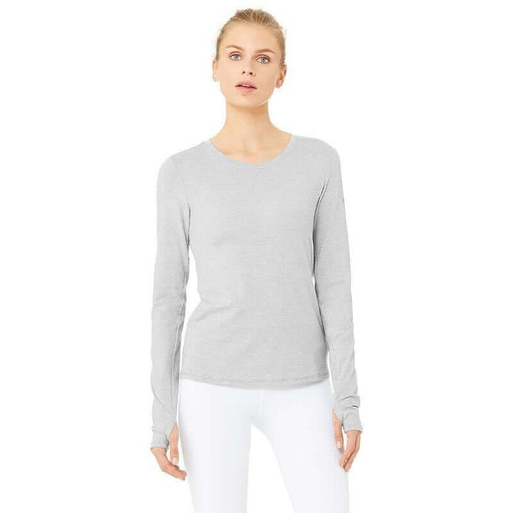 Alosoft Finesse Long Sleeve- Zinc Heather