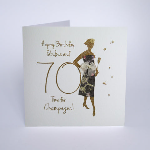 Happy Birthday, Fabulous at 70, Time for Champagne