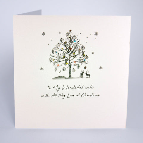 To A Wonderful Wife (Large Card)