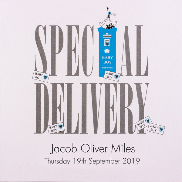 Special Delivery - Baby Boy (Postbox)