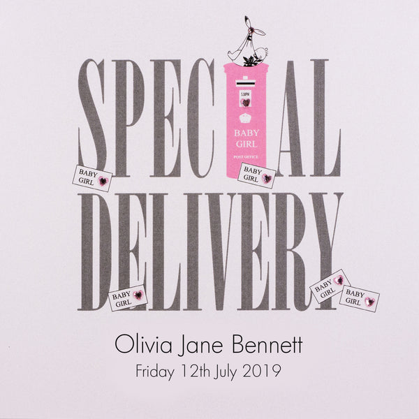 Special Delivery - Baby Girl (Postbox)
