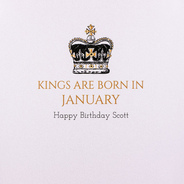 Kings are Born In …