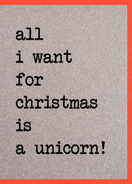 Dear Santa ~The Fairies Made Me Do It / All I Want for Christmas is a Unicorn