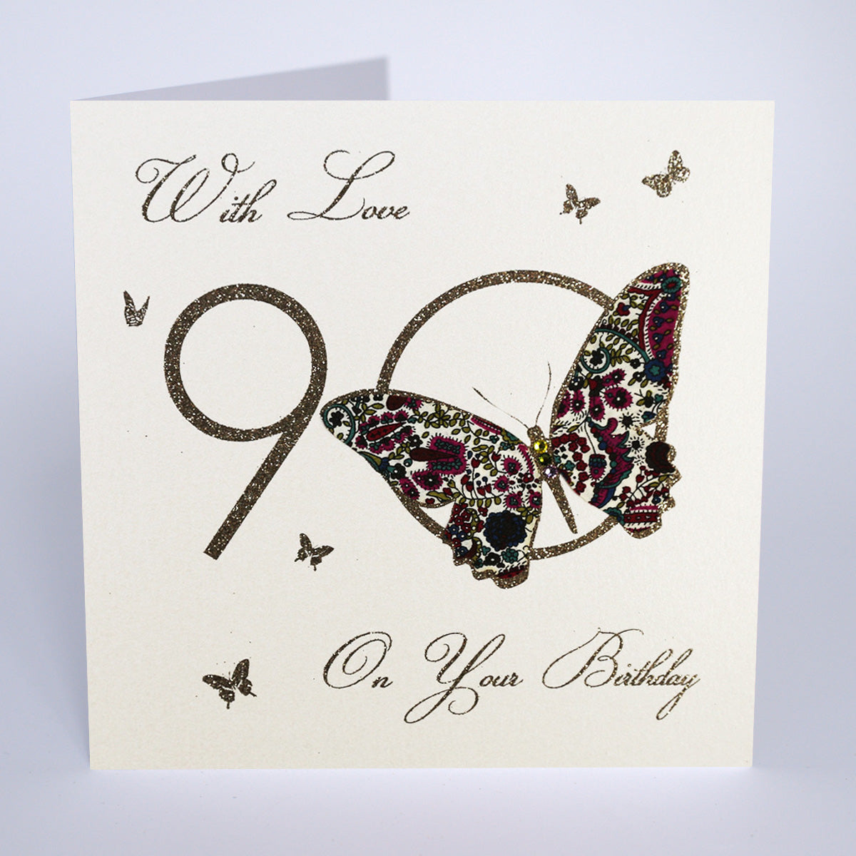 90 With Love on Your Birthday - Butterfly