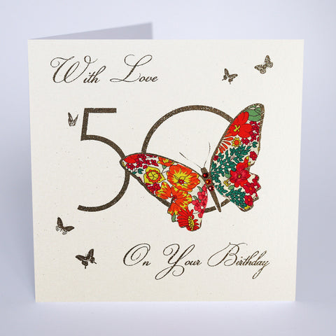 50 With Love on Your Birthday - Butterfly