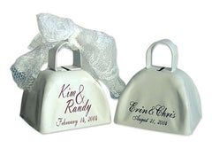 Personalized wedding bells from Cowbells.com