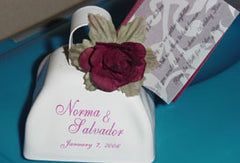 Customer decorated wedding bell