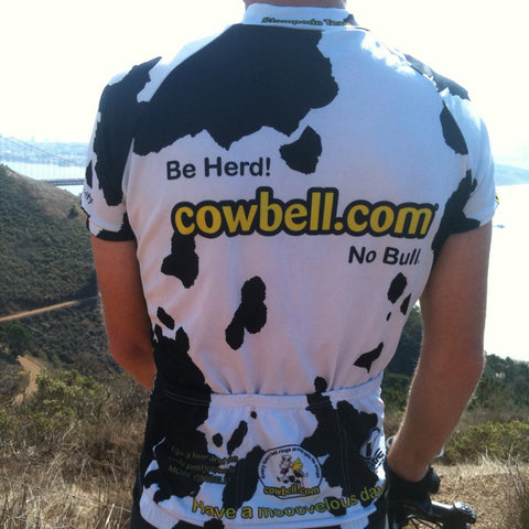 Cow Print Cycling Jersey