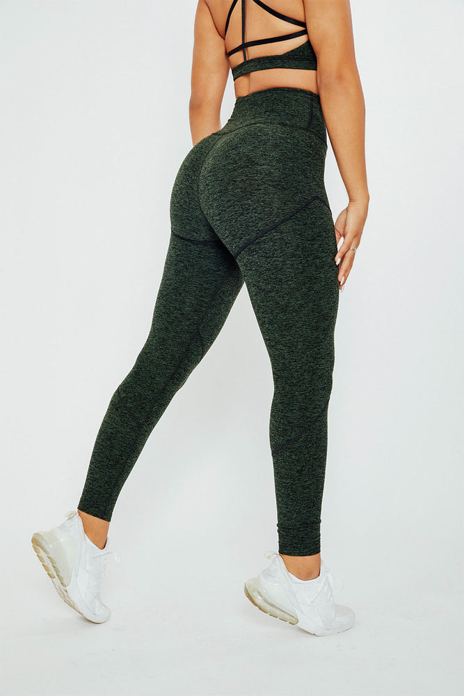Fearless High Rise Leggings - Hunter Green