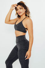 Love Yourself Sports Bra - Charcoal
