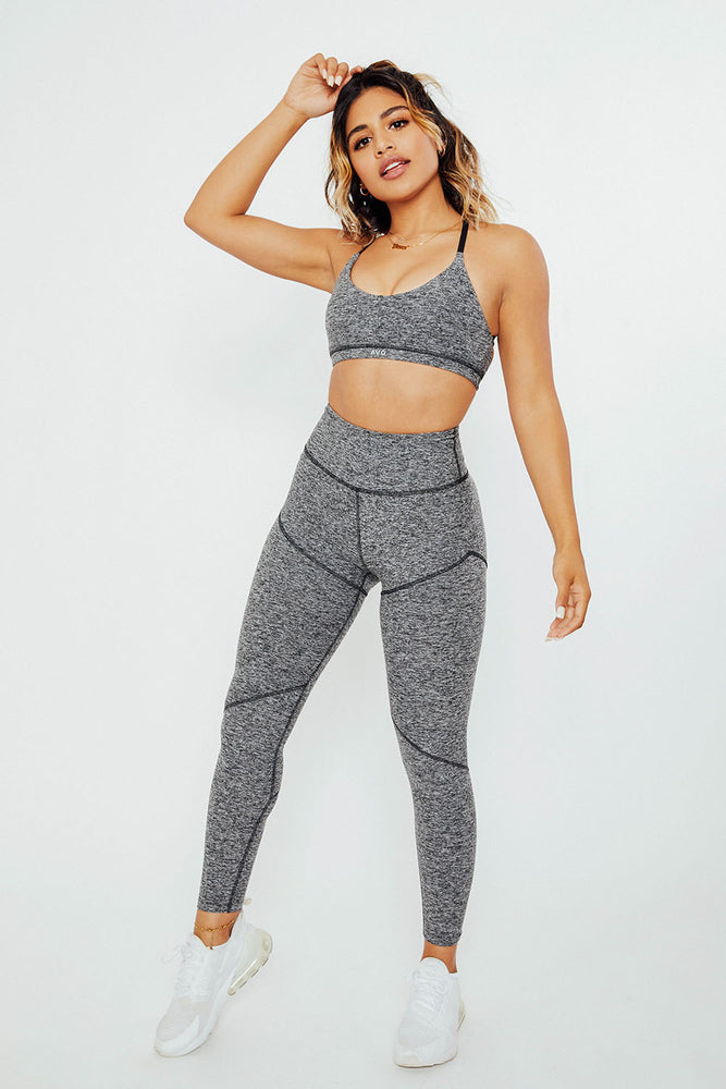 Fearless High Rise Leggings - Heather Grey
